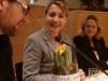 Blumen für Simone Peter von der BAG -Energie, mit Georg P Koessler und Sylvia Kotting-Uhl.