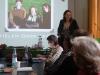 Astrid Schneider bei ihrer Abschiedsrede als scheidende BAG-Sprecherin