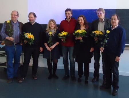 Auf dem Bild sind die heute Gewählten, soweit anwesend, und unser bisheriger Sprecher der BAG Matthias Schneider zu sehen (von links nach rechts): Rainer Hinrichs-Rahlwes, Matthias Schneider, Dania Röpke, Georg Kössler, Astrid Schneider, Jürgen Menzel und Siegfried Leittretter.