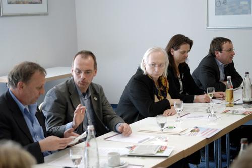 Rainer Priggen MdL, Dirk Jansen, BUND; Valerie Wilms MdB, Astrid Schneider MdA und Oliver Krischer MdB